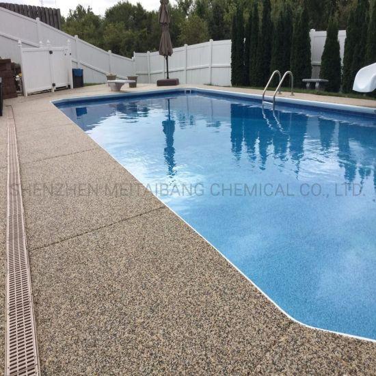 Pool Deck Resurfacing with Pebble Stone Coatings