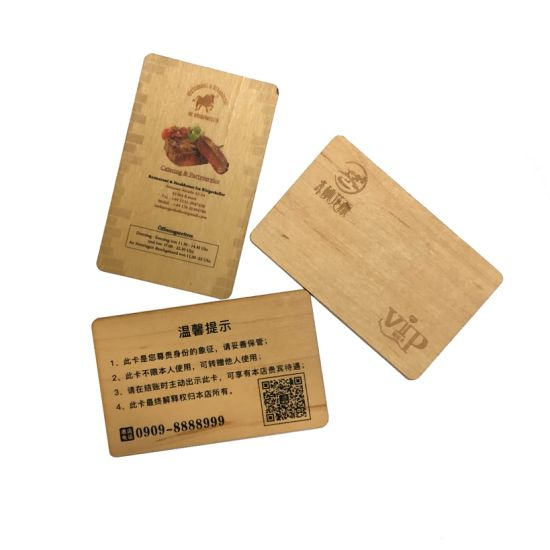 Wholesale Blank Bamboo Wood Business Card/Wedding Card/Christmas Decorations with Available Craft
