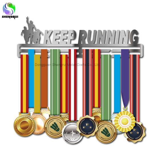 Running Sport Medal Display Rack Stainless Steel Medal Hanger for Runners