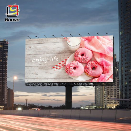 Road Side Led Two Sided Advertising Display Screen Outdoor