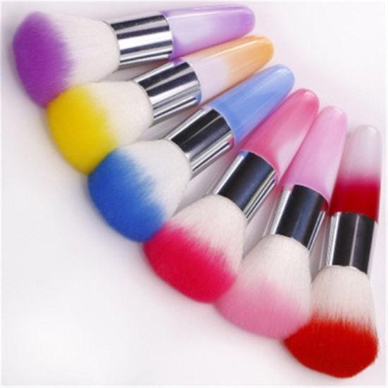 China 7 Colors Nail Art Dust Cleaner Plastic Handle Nail Brush