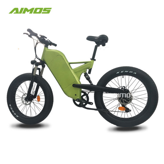Double Suspension Fat Tire Mountain Trek Electric Bicycle 1000W