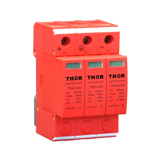 DC Lightning Surge Protection PV Surge Arrester 500V DC Surge Protection Device pictures & photos