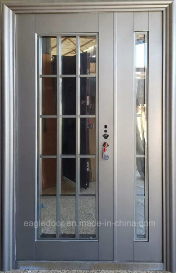 2018 Top Quality Modern Steel French Doors With Blinds (EF F1002ZM)