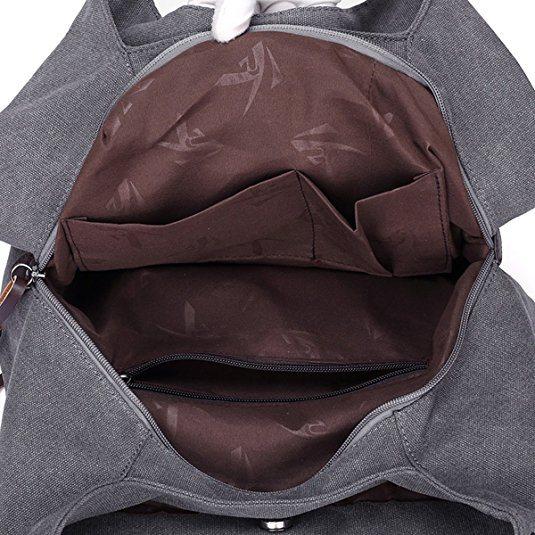 40e609067f729 Fashion Women′s Multi-Pocket Cotton Canvas Handbags Shoulder Bags Totes  Purses