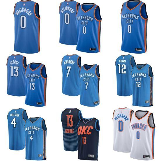 best website ecc79 b2e23 Oklahoma City Thunder Russell Westbrook White Swingman Fanatics Basketball  Jerseys