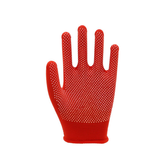 Colorful PVC Dotted Labour Working Gloves, Labor Protective Gloves