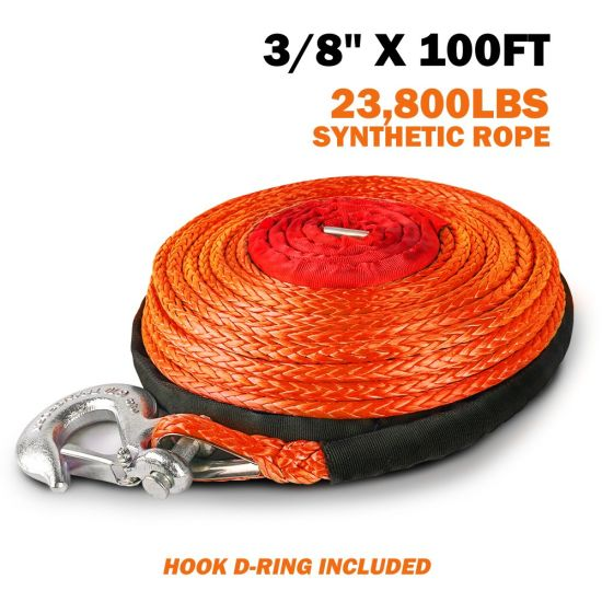 Orange Winch Rope Cable for 4X4 Winch