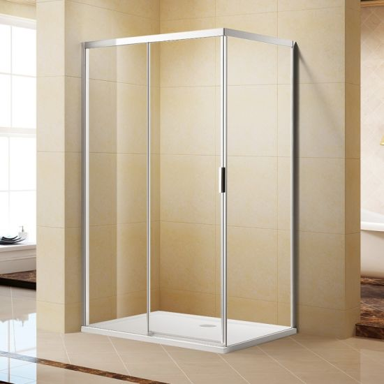 Simple & Elegent Square Semi-Frameless Sliding Shower Room L06342