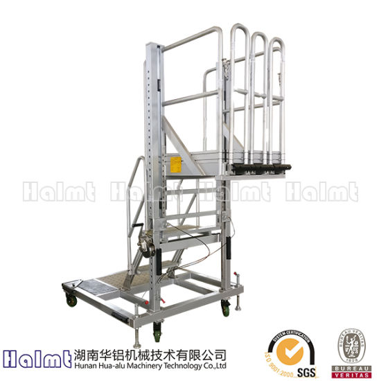 Aluminium Hand-Operated Step Ladders for Industry