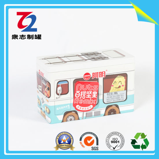 Rectangular Car Tin Can for The Storage of Dried Fruit pictures & photos