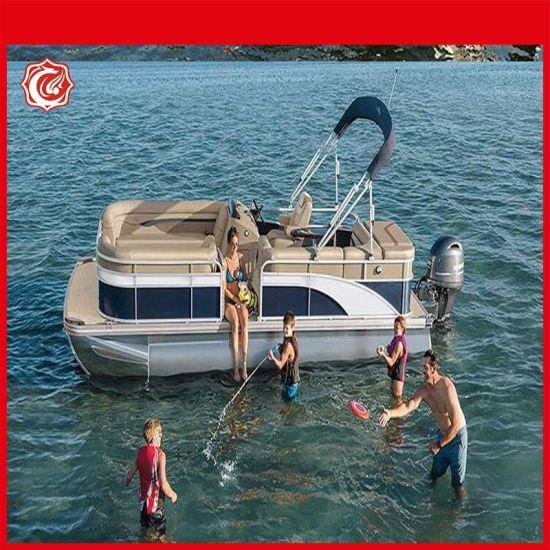 2020 New Luxury Aluminum Floating Fishing Houseboat Pontoon Boats for Sale