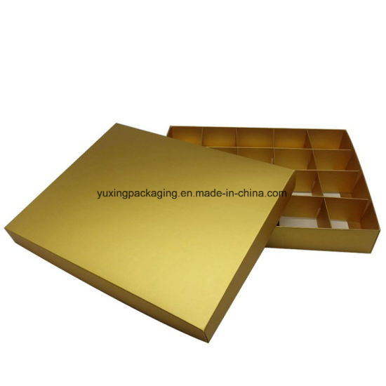 Cardboard Truffle Paper Box Chocolate Box with Gold Paper Insert