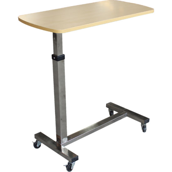 Medical Devices Wooden&Steel Hospital Overbed Table pictures & photos
