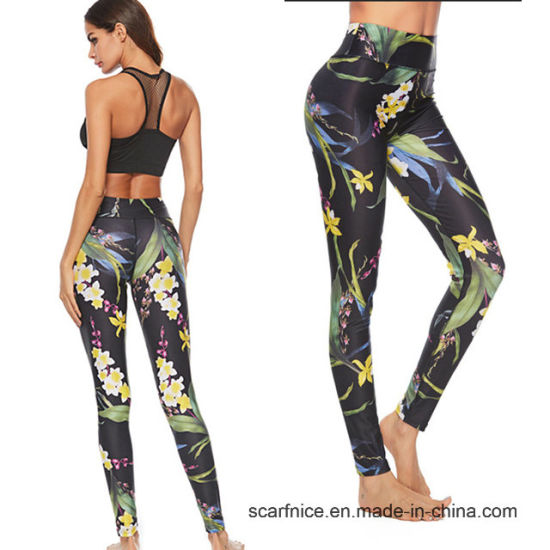 ee8fc4d3187e1 Women Yoga Pants Printed Leggings Sport Fitness High Waist Workout Tight  Gym Pants Sport Pants Running Trousers Yoga Leggings
