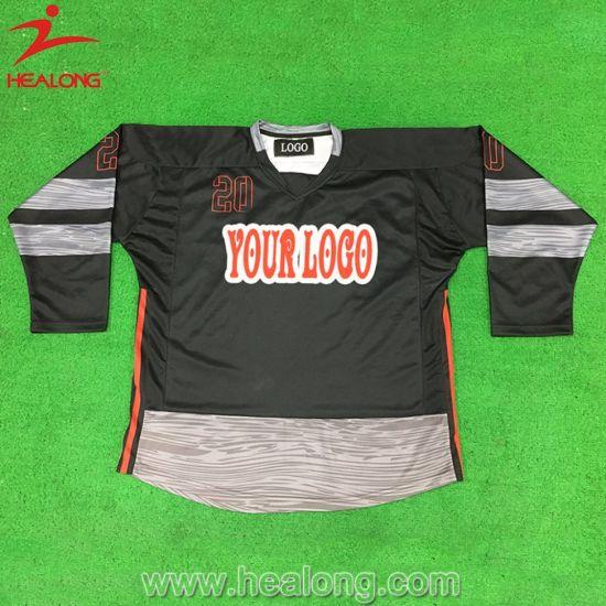 Healong Full Sublimation Polyester Hot Selling Ice Hockey Jersey