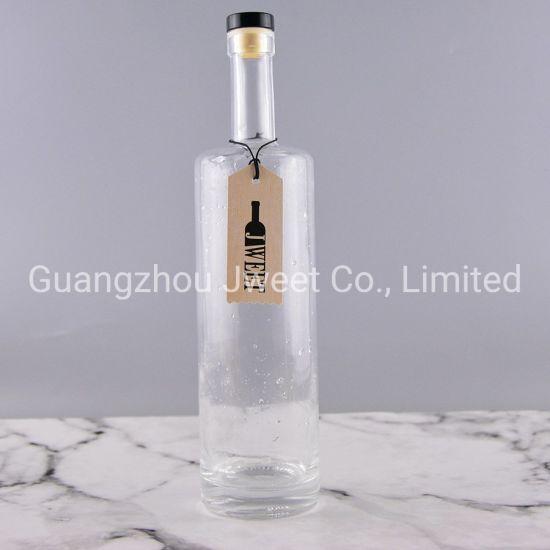Wholesale Custom Liquor Glass Bottle 750ml Vodka Spirit Glass Wine Bottle
