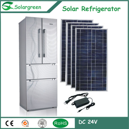 12V DC Double Door Solar Energy Freezer Refrigerator pictures & photos