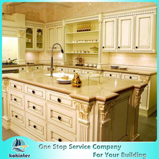 Solid Wood Kitchen Cabinet Modular Cabinet