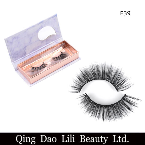 a4aea88f479 Customized Logo Strip Lashes Private Label Wholesale Faux Mink Eyelashes 3D  Mink 100% Handmade Lashes