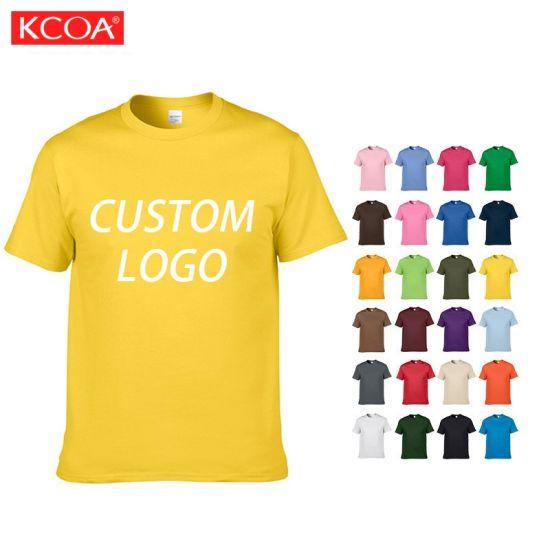Factory Summer Screen Printing Custom Plain Men Cotton T Shirt
