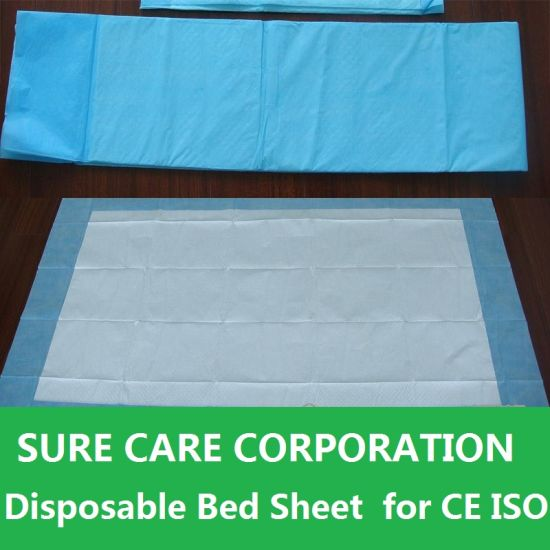 Disposable Waterproof Nonwoven Bed Cover Sheet with Elastic pictures & photos