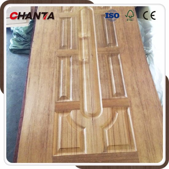 china wood veneer exterior moulded door skin with new design china