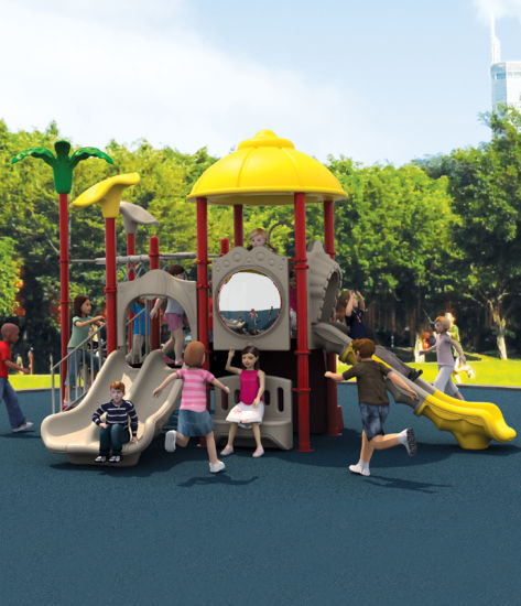 Used School Outdoor Plastic Playground Equipment for Sale