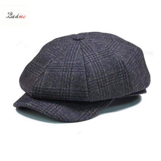 China Vintage Men Wool Gird Beret Cap Newsboy Cap Cabbie Cap - China ... 7455bb91144