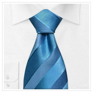 Sky Blue Color Men's Fashion Design Woven Silk Necktie