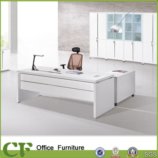 [Hot Item] Office Furniture China Supply White Wooden Executive Office Desk