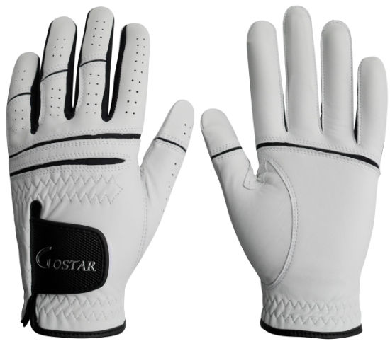 Fashion Genuine Leather Golf Gloves (JYG-29147)