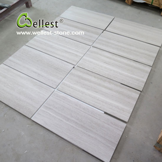 China White Wood Floor Wall Marble Tile for Hotel/Villa/Commercial Building