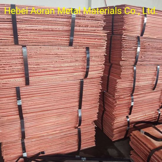 Hot Sale 99.97%-99.99% Min Purity Red Copper Cathode Made in China