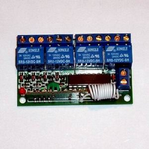 RF 4 Relay Remote Controller, Rolling Code Receiver