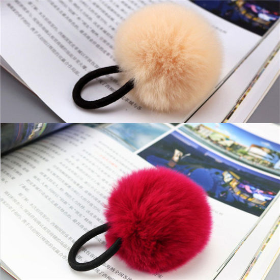 Hairy Ball Keychain Domestic Rex Rabbit Fur POM POM pictures & photos