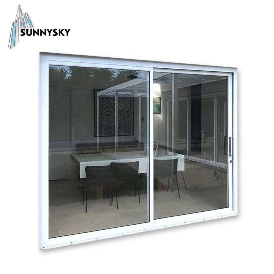 Wholesale Price Double Aluminum Sliding Glass Door and Window with Powder Coated Treatments