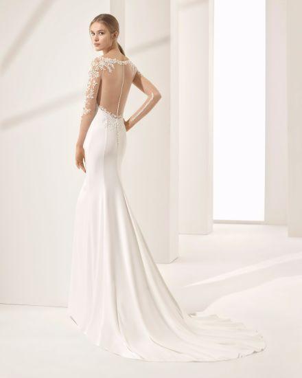 Wholesale Long Sleeve Sheer Back Mermaid Bridal Wedding