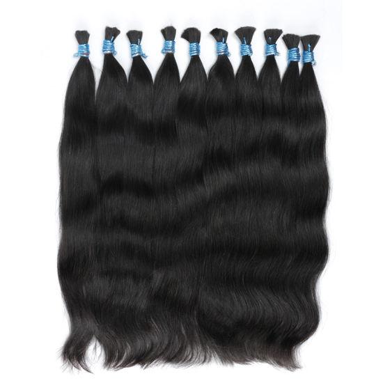 Double Drawn Blonde Afro Kinky Human Bulk Hair for Wig Making, Wholesale Buy Bulk Hair Extensions, Cheap 7A Raw Indian Hair Bulk
