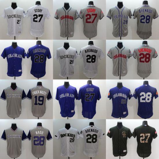 188f245e3 China Customized National League Colorado Rockies Cool Base Baseball ...