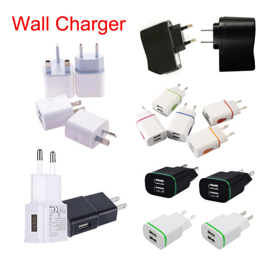 1A 2.1A Universal Portable Travel Wall Charger Au EU UK Plug AC Adapter for Mobile Phone Tablet PC