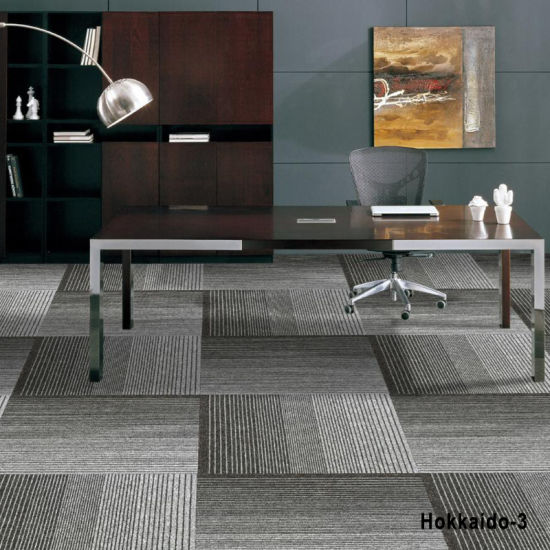 China Hokkaido 4 Colors Office Flooring Carpet Tile With Pvc Back