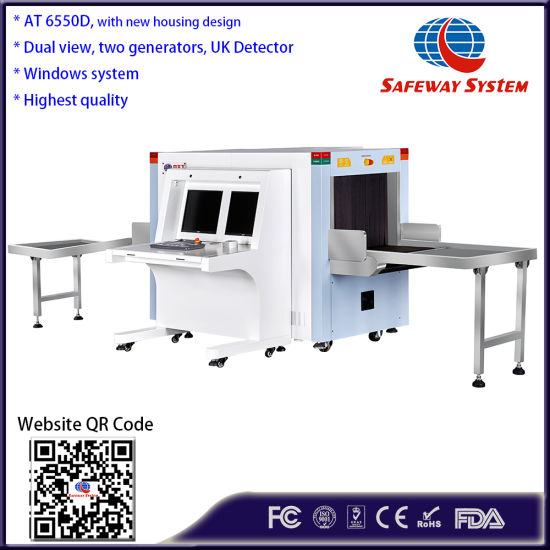 Airport X-ray Machines/X-ray Baggage Scanner At6550d with Guarantee ISO1600 Film
