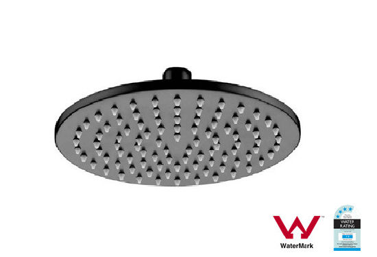 Sanitary Ware Black Round Shower Head with Watermark and Wels (1439CB)