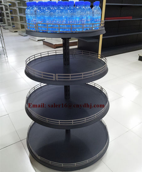 Supermarket Beverage&Wine Bottle Display Rack/Metal Snack Food Racks/Retail Display Rack for Exhibition Promotion
