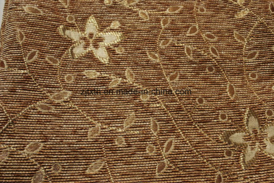 200GSM Brown Chenille Furniture Fabric by China Supply pictures & photos