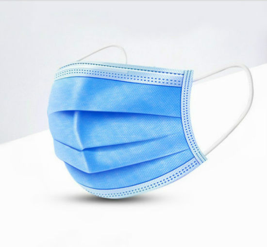 Blue Foldable Disposable PP Non Woven 3ply Dust Protective Face Mask in Stock