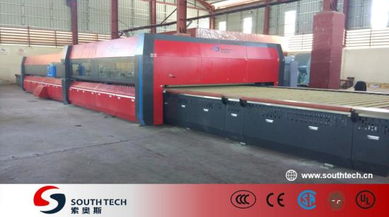 Southtech Horizontal Roller Hearth Low Electricity Cost Passing Flat Double Chamber Toughening Glass Machinery for Sale (TPG-2 series)