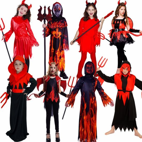 Duivel Kostuum Halloween.Kids Halloween Costume Cosplay Boy S Girl S Devil Costume Performance New Arrival Girl Red Scary Devil Dress Boy Devil Clothes China Devil Costume And Kids Halloween Costume Price Made In China Com