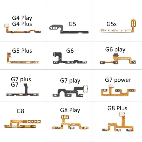 Wholesale Cell Phone Power on/off Flex Cable for Motorola Moto G9 G8 G7 G6 G5 G5s G4 Plus Play